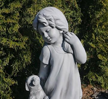 Садовая фигура девушки из провинции – замечательная скульптура девочки с собачко. Хмельницкий, Хмельницкая область. фото 5