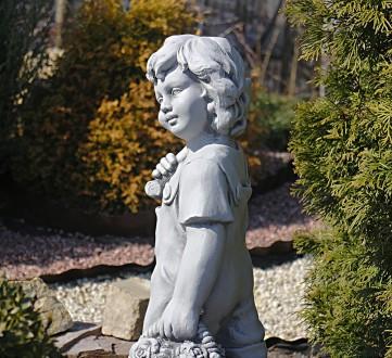 Садовая фигура Деревенский мальчик – замечательная скульптура мальчика с собачко. Хмельницкий, Хмельницкая область. фото 5