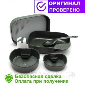Набор посуды Wildo Camp A Box Complete Olive 14740. Первомайский. фото 1