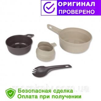 Туристический набор посуды Wildo ADVENTURER KIT - DESERT / DARK GREY (67331). Первомайский. фото 1