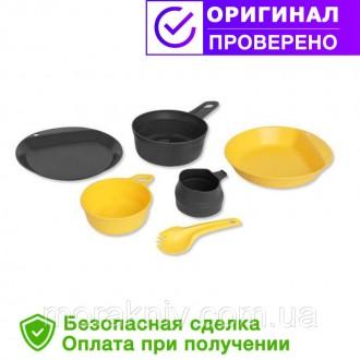 Туристический набор посуды Wildo EXPLORER KIT - LEMON / DARK GREY (67233). Первомайский. фото 1