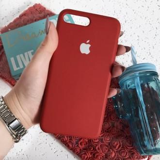 Чехол iphone 7+ 8+ plus силиконовый красный. Чернигов. фото 1