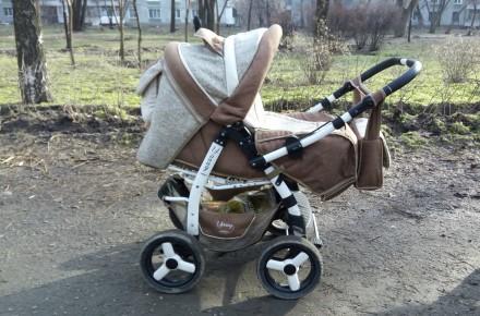 Детская коляска трансформер Adamex Young Б/У. Запорожье. фото 1
