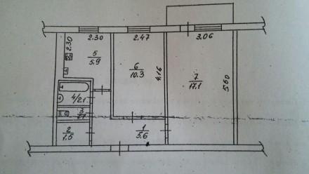 Продаю Найвигіднішу 2х кімнатну кв в районі Сєдова.. Черкассы. фото 1