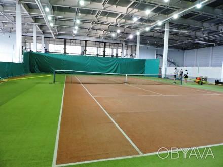 Теннисные корты - искусственная трава - идеальное покрытие для занятий теннисом . Запорожье, Запорожская область. фото 1