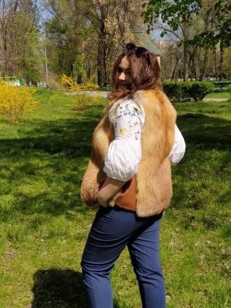 Распродажа зимней коллекции!!! Продам жилетку из лисы. Размер жилетки 44. Возмо. Запорожье, Запорожская область. фото 5