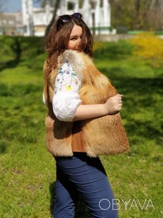 Распродажа зимней коллекции!!! Продам жилетку из лисы. Размер жилетки 44. Возмо. Запорожье, Запорожская область. фото 1