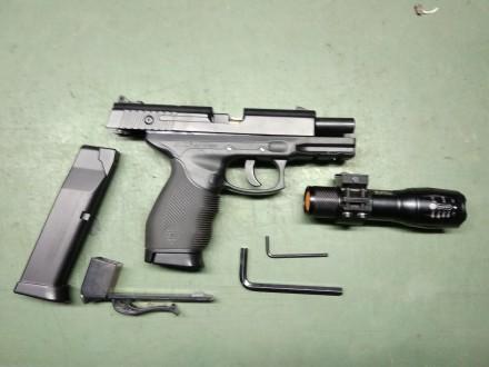 Пневматический пистолет Gletcher Trs 24/7 з металевою затворною рамою. Виноградів. фото 1
