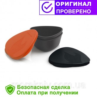 Набор посуды LIGHT MY FIRE SnapBox 2-pack Orange/Black, (40358913). Первомайский. фото 1
