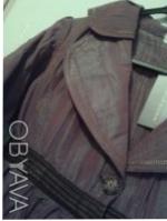 Детский нарядный костюм: жакет и юбка. Ткань - тафта-хамелеон, жатка: цвет кори. Киев, Киевская область. фото 6