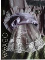 Детский нарядный костюм: жакет и юбка. Ткань - тафта-хамелеон, жатка: цвет кори. Киев, Киевская область. фото 7