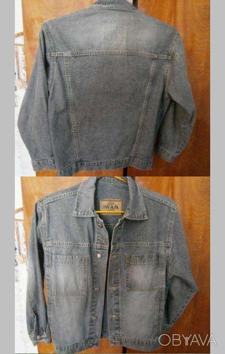Джинсовый пиджак на мальчика 10-12 лет, 146 см.
