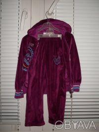 Продам велюровый спортивный костюм Goloxy (Венгрия) на девочку, размер 98 (малом. Киев, Киевская область. фото 3