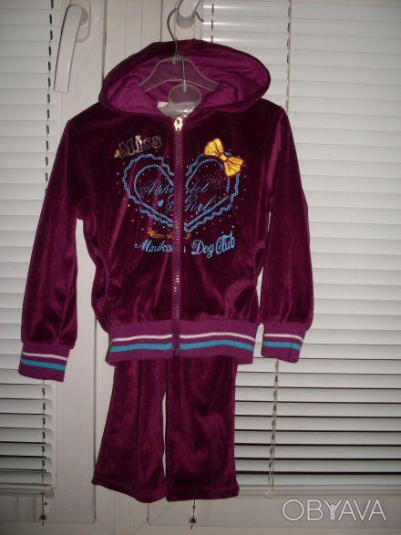 Продам велюровый спортивный костюм Goloxy (Венгрия) на девочку, размер 98 (малом. Киев, Киевская область. фото 1