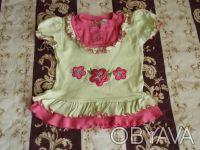 Продам футболку на девочку на рост 80см и 92 см (Турция) в хорошем состоянии, бе. Киев, Киевская область. фото 2
