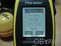 Беспроводной эхолот Phiradar FF268W  Тип дисплея: 4 уровня серого LCD V128XH96. Киев, Киевская область. фото 11