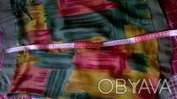 Цветная шифоновая юбка на однотонной шифоновой подкладке.Впереди с боку разрез у. Киев, Киевская область. фото 6