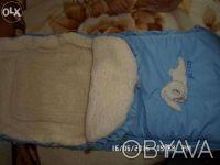 продаю детский конверт для новорожденных, хороший в отличном состоянии на овчине. Киев, Киевская область. фото 4