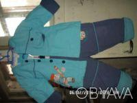 Продаю детский балоневый костюм на синтепоне,бирюзового цвета куртка + штаны, р. Киев, Киевская область. фото 2
