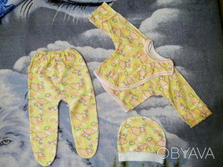 Набор для новорожденного на 56 см, мы носили до 62 см. В хорошем состоянии, на р. Кривий Ріг, Дніпропетровська область. фото 1