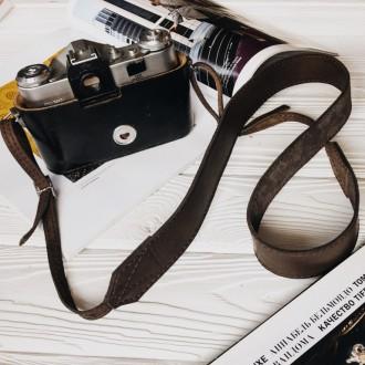 Ремешок для фотоаппарата кожаный наплечный шлейка ремень. Киев. фото 1