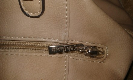 Женская сумка Gilda Tohetti бежевая. Фирма Gilda Tohetti основана в 1970 году, д. Днепр, Днепропетровская область. фото 6