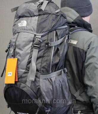 Туристический рюкзак North Face Extreme 60 литров (черный). Первомайский. фото 1