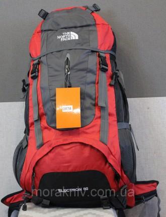 Туристический рюкзак North Face Extreme 60 литров (красный). Первомайский. фото 1
