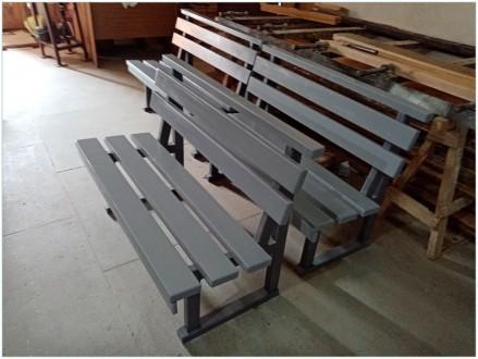 Скамейка для сада или дачного участка из натурального дерева. Специальная защитн. Ирпень, Киевская область. фото 3