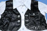 Рубашка с жилеткой-обманкой,     для мальчиков, школьная с длинным рукавом, заст. Одесса, Одесская область. фото 3