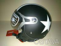 Шлем BEON полулицевик с визором 3/4 черный матовый. Харьков. фото 1