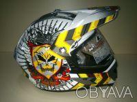 Мото Шлем LS-2 MX433 JUSTICE кроссовый (мотард) с визором белый. Харьков. фото 1