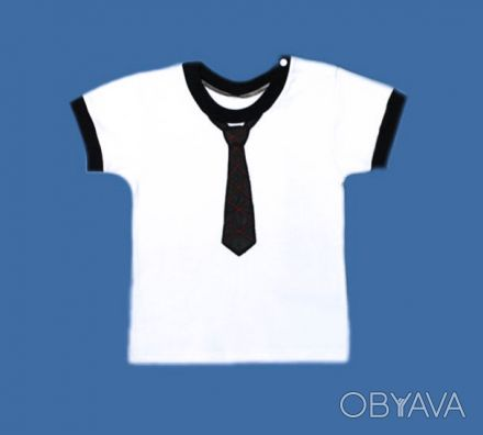 ФОТО 1. футболка с галстуком,   для мальчиков, с коротким рукавом. Галстук из а. Одесса, Одесская область. фото 1