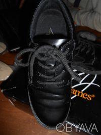 Черные туфли на шнуровке,в отличном состоянии,куплены в США. Отправляю УкрПочто. Київ, Київська область. фото 4