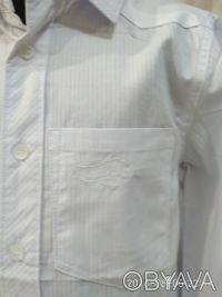 Красивая , нарядная и практичная белая рубашка с длинным рукавом и отложным воро. Белая Церковь, Киевская область. фото 3