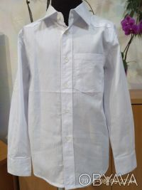 Красивая , нарядная и практичная белая рубашка с длинным рукавом и отложным воро. Белая Церковь, Киевская область. фото 2