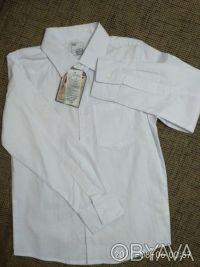Красивая , нарядная и практичная белая рубашка с длинным рукавом и отложным воро. Белая Церковь, Киевская область. фото 6
