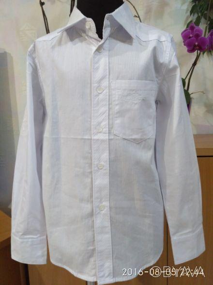 Красивая , нарядная и практичная белая рубашка с длинным рукавом и отложным воро. Белая Церковь, Киевская область. фото 1
