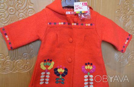 Очень красивое и нежное пальто для девочки фирмы Du Pareil au Meme (DPAM) Франци. Киев, Киевская область. фото 1
