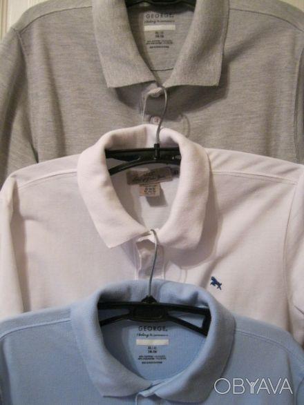 Поло GEORGE - голубое и серое(короткий рукав)  Поло H&M белое(короткий рукав) . Кривой Рог, Днепропетровская область. фото 1