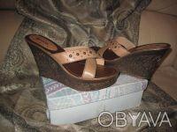 Красивые Кожаные Сабо / Босоножки на платформе / Женская обувь большого размера. Сумы. фото 1