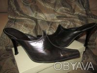 Сабо кожа 41 / Туфли женские / Кожаная обувь / Обувь большого размера. Сумы. фото 1