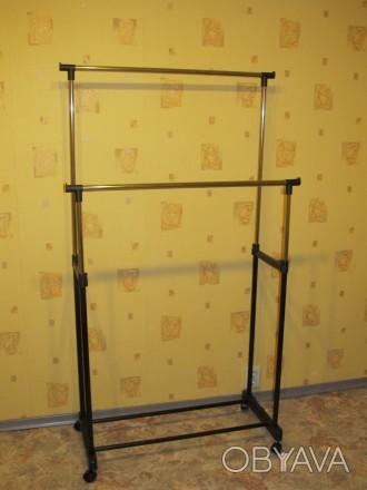 ᐈ Тримач для одягу подвійний - Стойка вешалка двойная металическая ... c0c8453f5a933