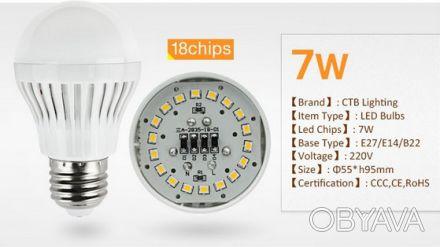 Светодиодная лампа Е27 220В 7Вт