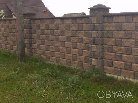 Заборные Блоки,Крышки,Парапеты...вибропрессованные,цены от производителя,доставк. Киев, Киевская область. фото 1