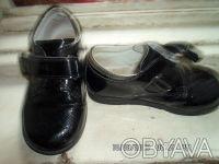 Продаю детские туфли осень-весна черные лаковые в хорошем состоянии размер стель. Киев, Киевская область. фото 3