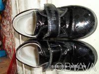 Продаю детские туфли осень-весна черные лаковые в хорошем состоянии размер стель. Киев, Киевская область. фото 2