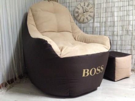 Кресло в офис или для дома Кресло мешок бескаркасное комфортное кресло BOSS!. Херсон. фото 1