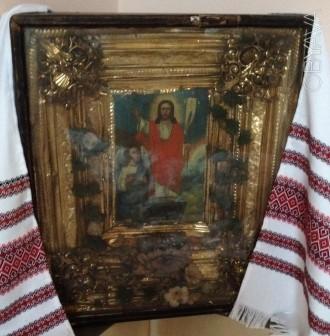 Икона «Воскресение Христово»  - семейная реликвия. Редкая.. Киев. фото 1