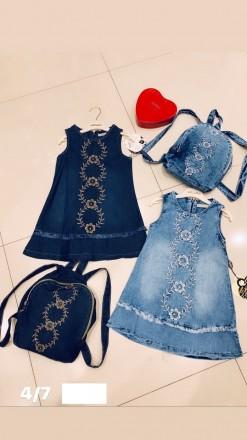 Платье джинсовое для девочки Moonstar Турция. Мариуполь. фото 1